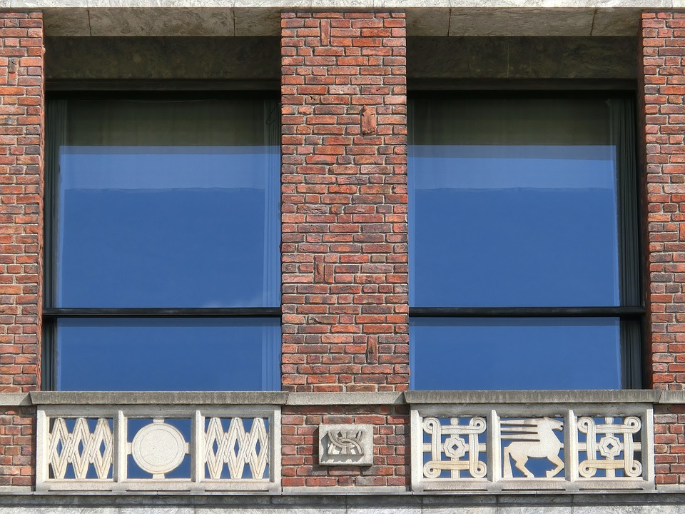 Window, Brick, Architecture, Town Hall, Oslo, Parapet