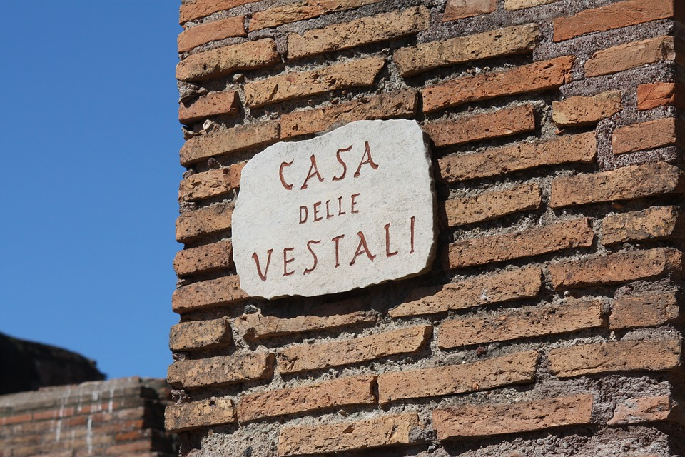 Architecture, Brick, Rome, Wall, Bricks, Building, Sign