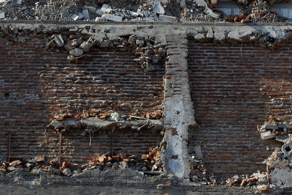 Wall, Collapse, Stone, Brick, Broken, Collapsed, Old