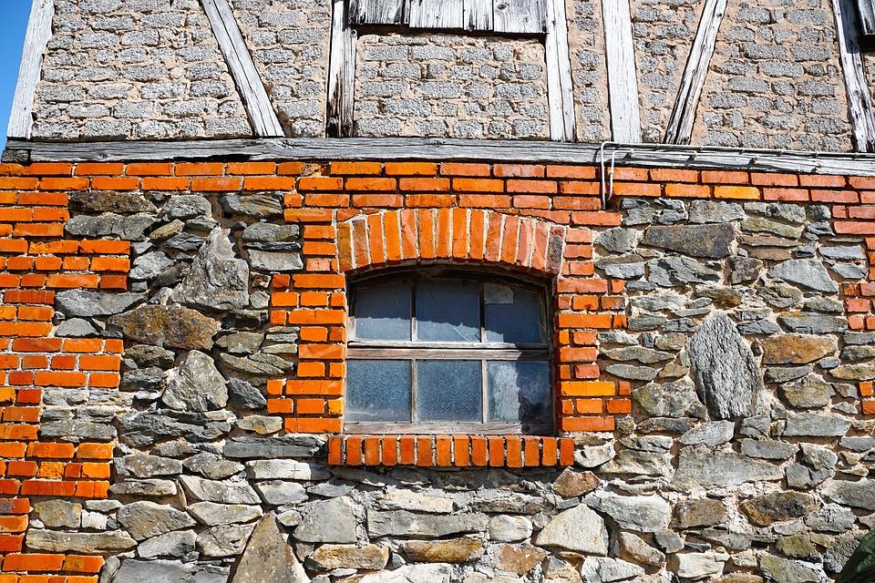 Home, Old, Facade, Truss, Color, Brick, Fulda, Germany