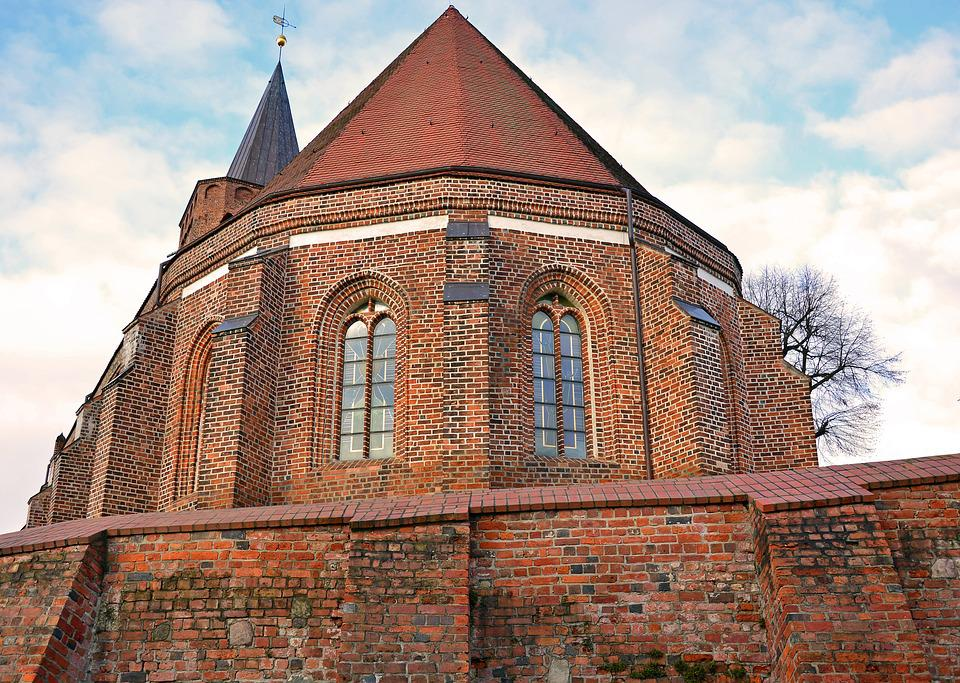 Architecture, Church, Building, Brick, Brick Gothic