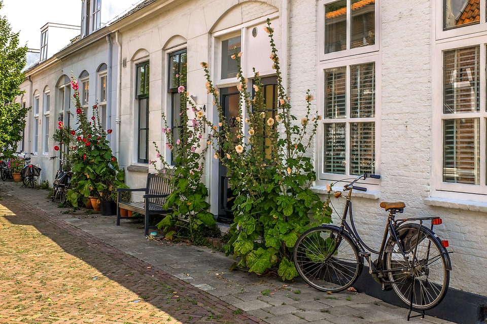 Home, House, Bike, Brick, Facade, Middelburg
