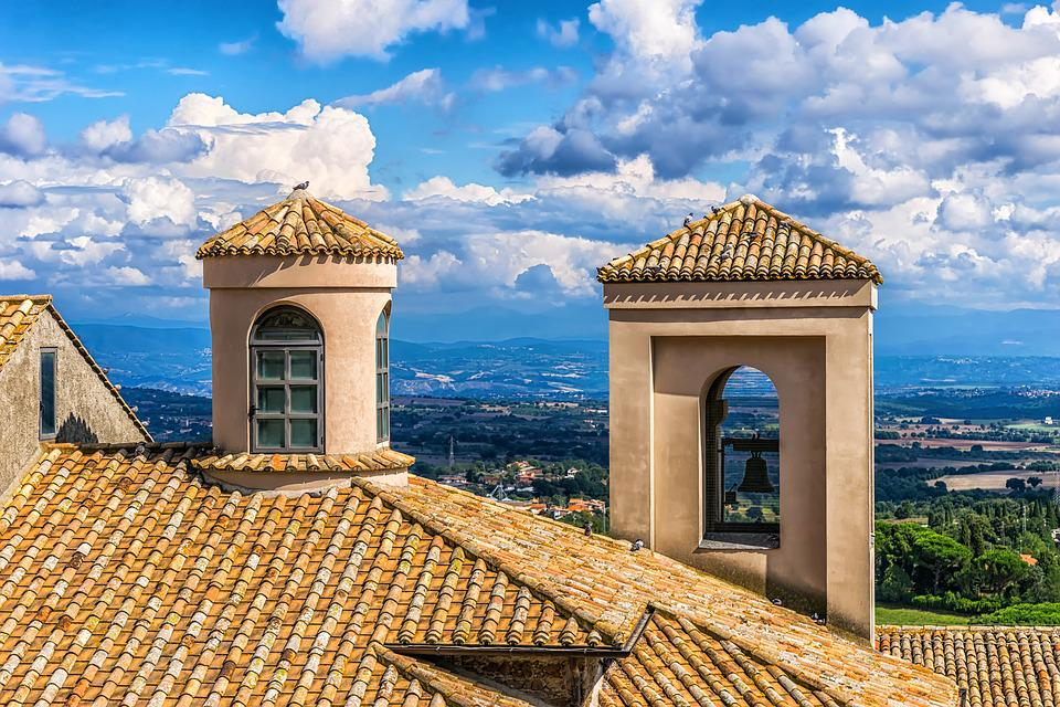 Italy, Home, Roof, Building, Brick, Red, Tower, Bell