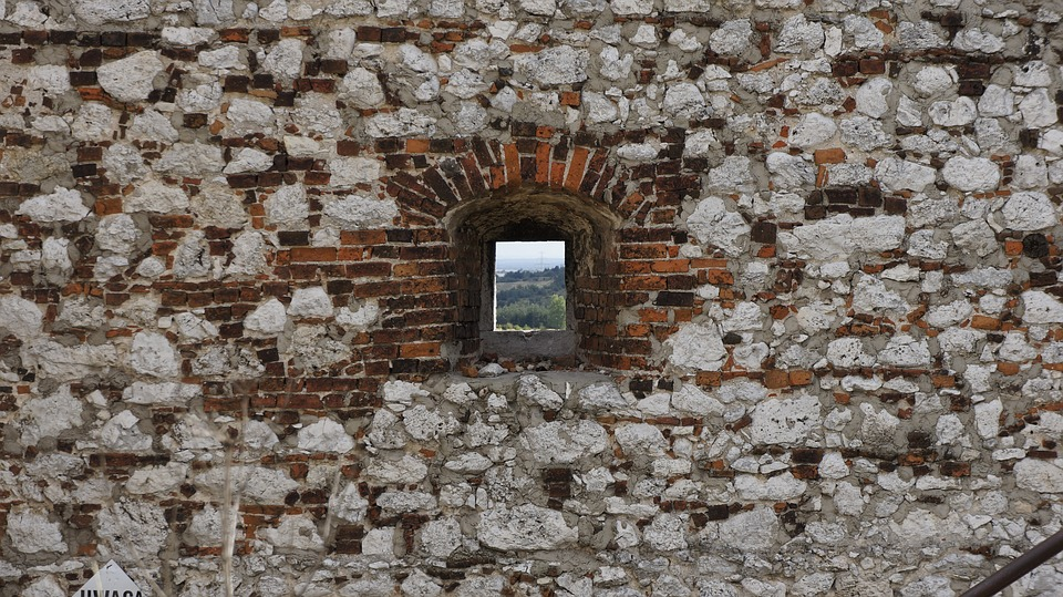 Lake Dusia, Window, Architecture, Old, Brick, Building