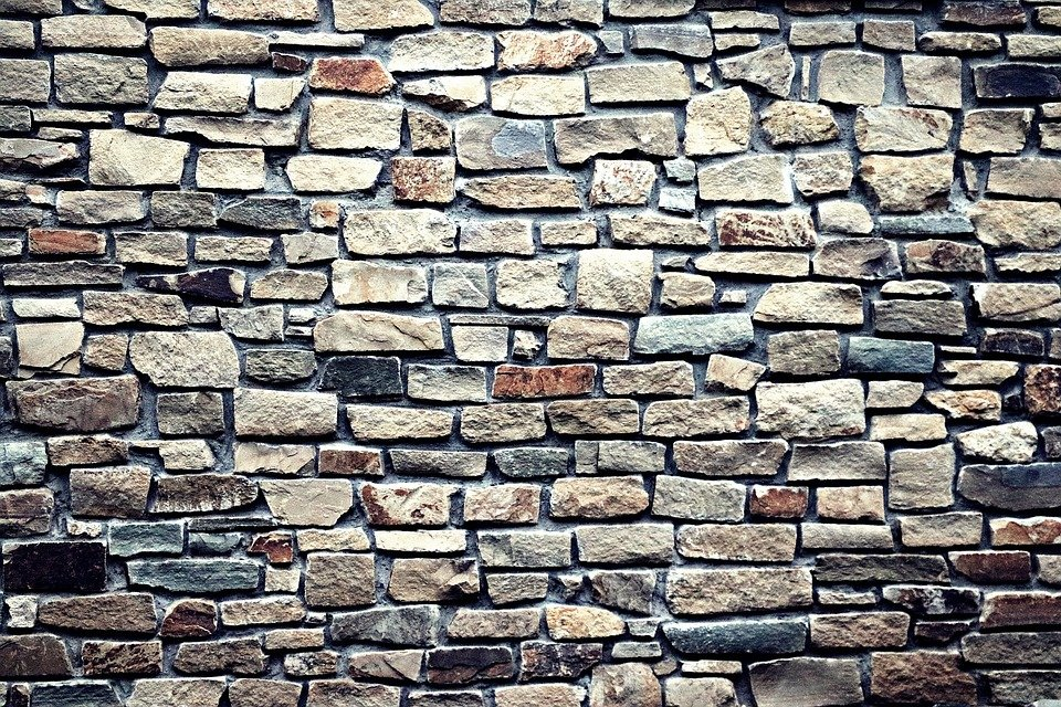 Wall Stone Background Web Masonry Rustic Brick