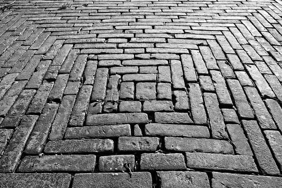 Brick Paving Sidewalk Street Surface Bricklaying