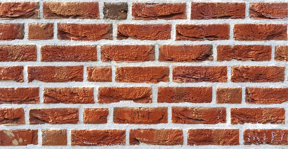 Texture, Structure, Wall, Brick, Stone, Red, Initials