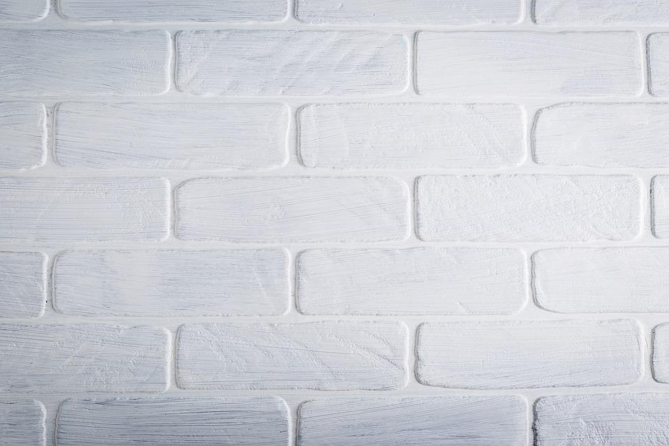 Background Texture Brick Wall Desktop White Paint