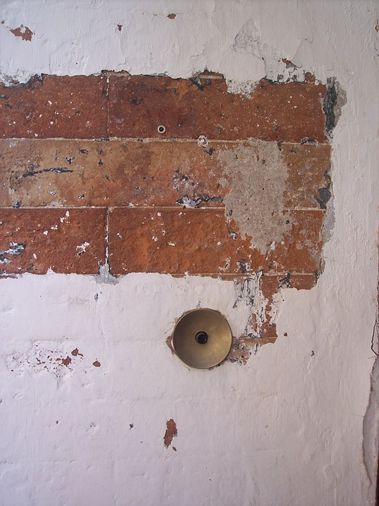 Bell, Cretto, Old Wall, Brick Ring, Brick Wall, Peeling