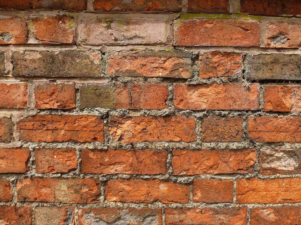 Brick Wall, Building, Mortar, Pattern, Brick, Texture
