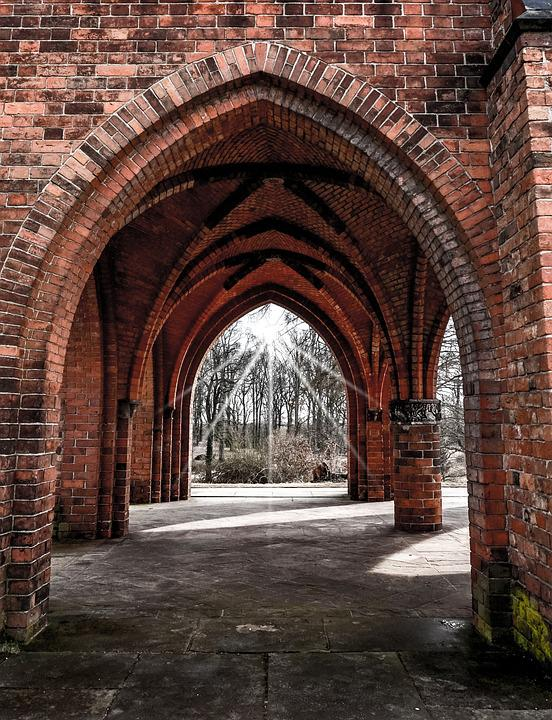 Architecture Arch Old Gothic Wall Brick