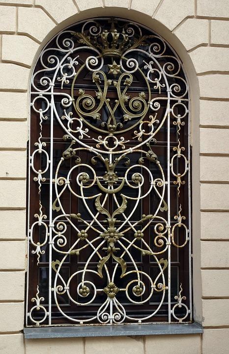 Window, Old, Europe, Vilnius, Lithuania, Metal, Brick