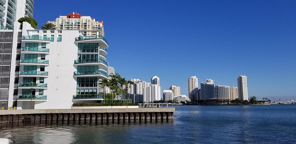 Brickell, Miami, Florida, Bay, Waterfront, Biscayne