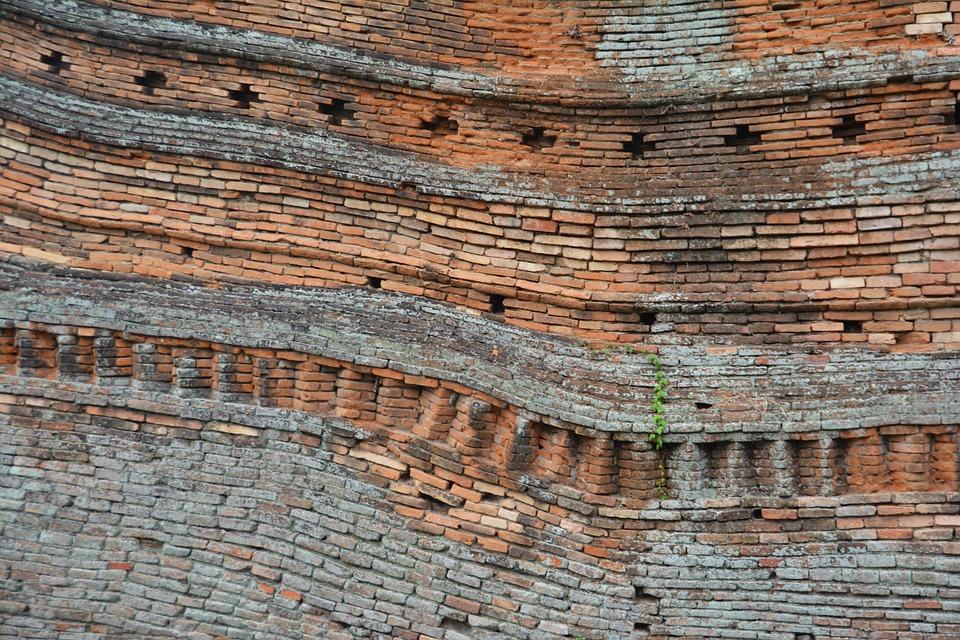Wonky, Wall, Bricks, Building, Crooked, Old, Masonry