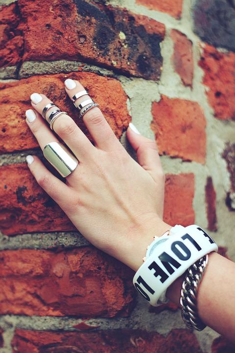 Hand, Bricks, Ring, Rings, Nails, Bracelet, Bracelets
