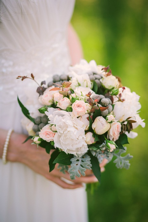 Bridal Bouquet, Roses, Beautiful Flowers, Composition