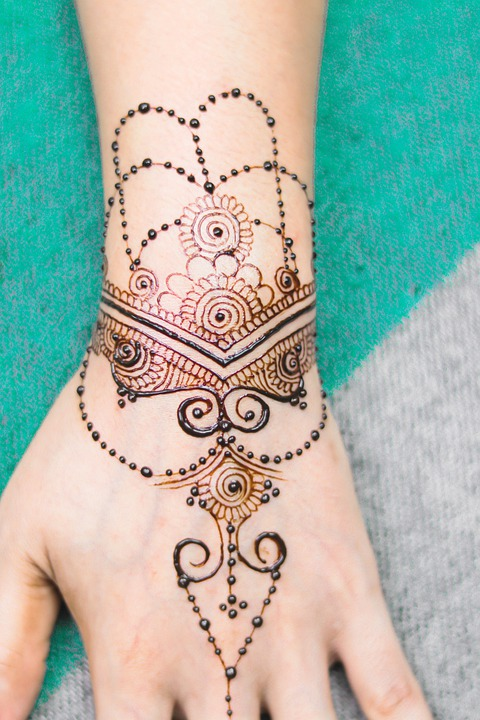 Henna, Hand, Girl, Bridal, Brown, Cosmetic, Design