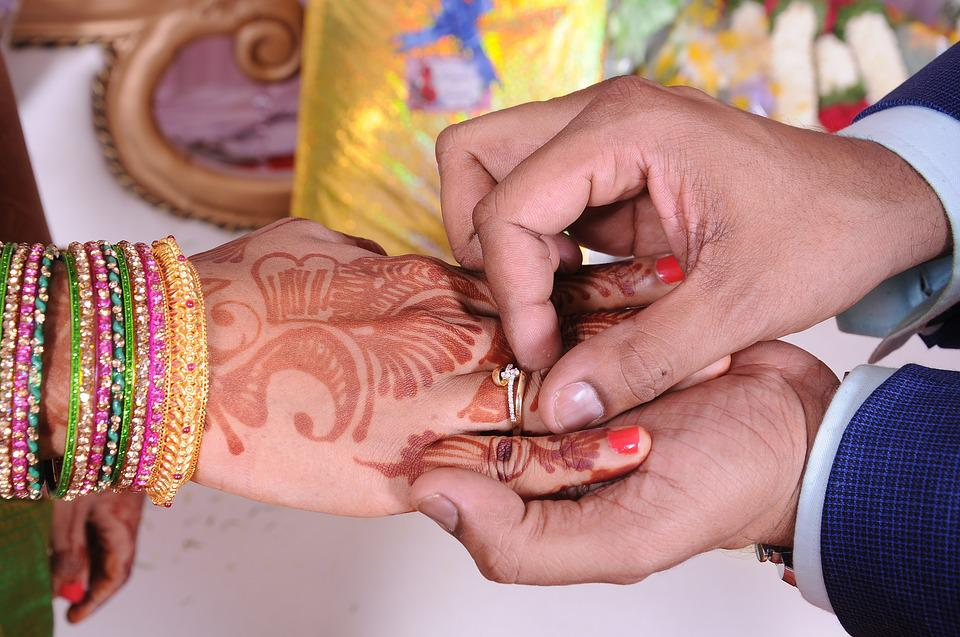 Free photo Bridal Wedding Mehandi Hand Ring Indian Girl - Max Pixel