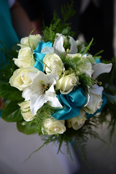 Wedding, Flowers, Bride, Buket, Roses, Marry, Bouquet