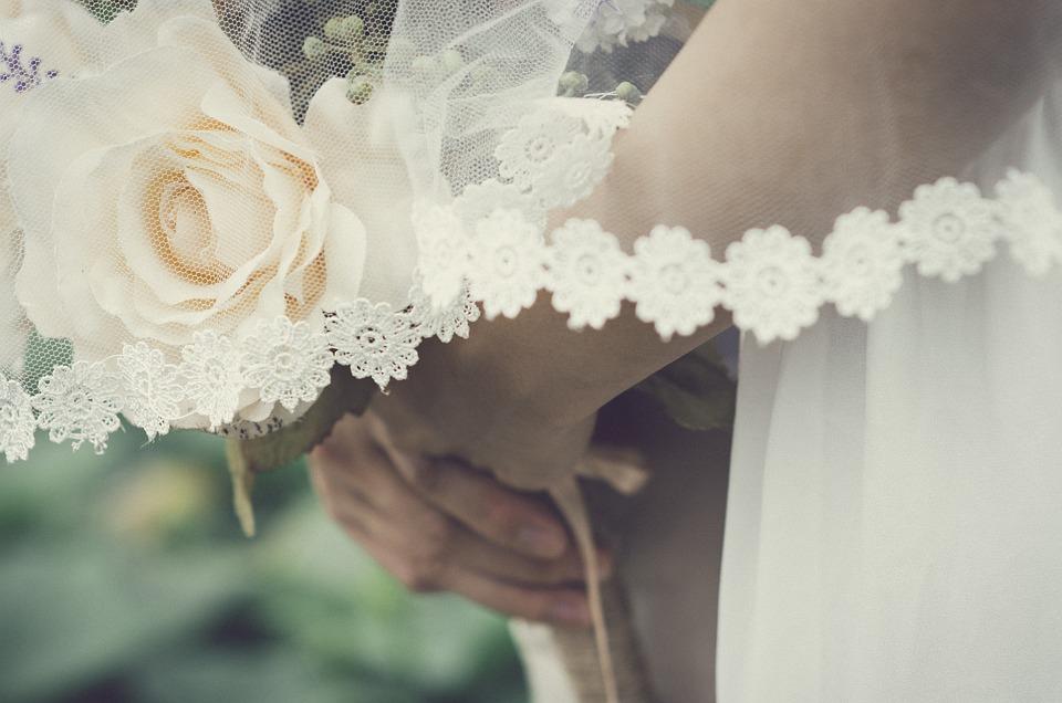 Wedding, Bouquet, Love, White, Bride, Rose, Floral