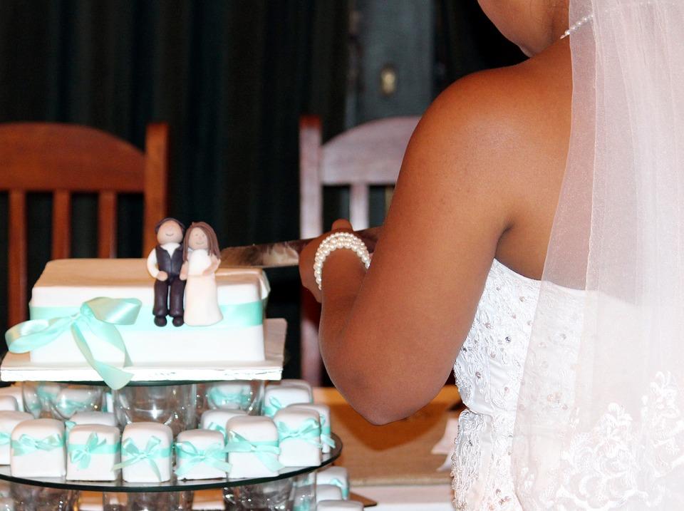 Wedding Cake, Bride, Cutting Of, Knife, Wedding, Marry