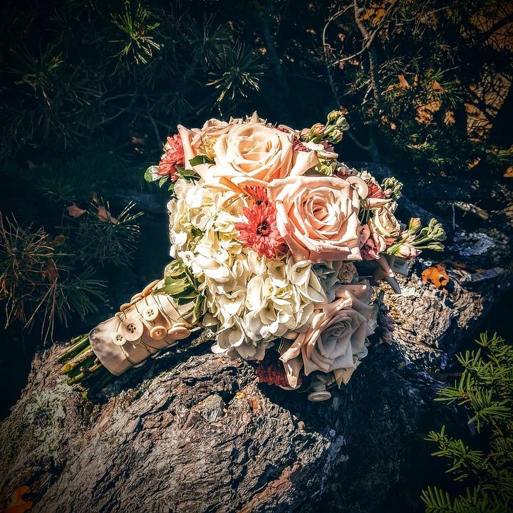 Wedding, Wedding Bouquet, Roses, Bouquet, Bride