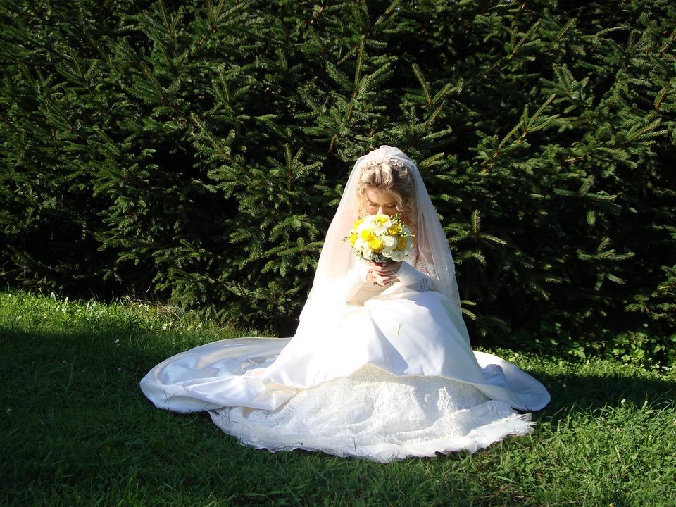 Bride, Woman, Bouquet