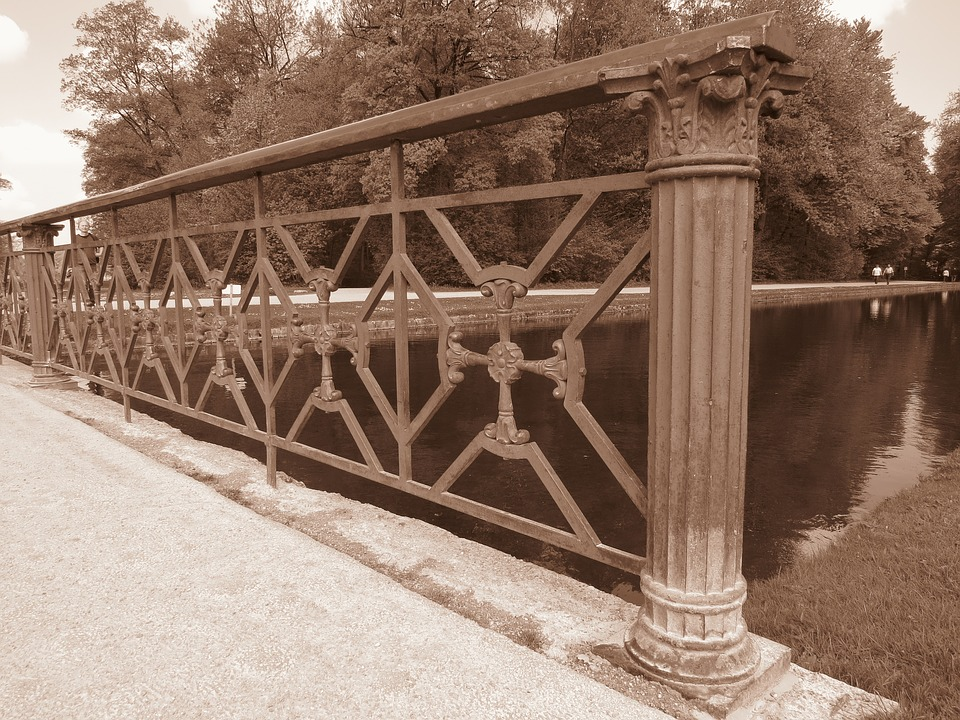 Bridge, Iron, Grid, About, Handrail, Wrought Iron