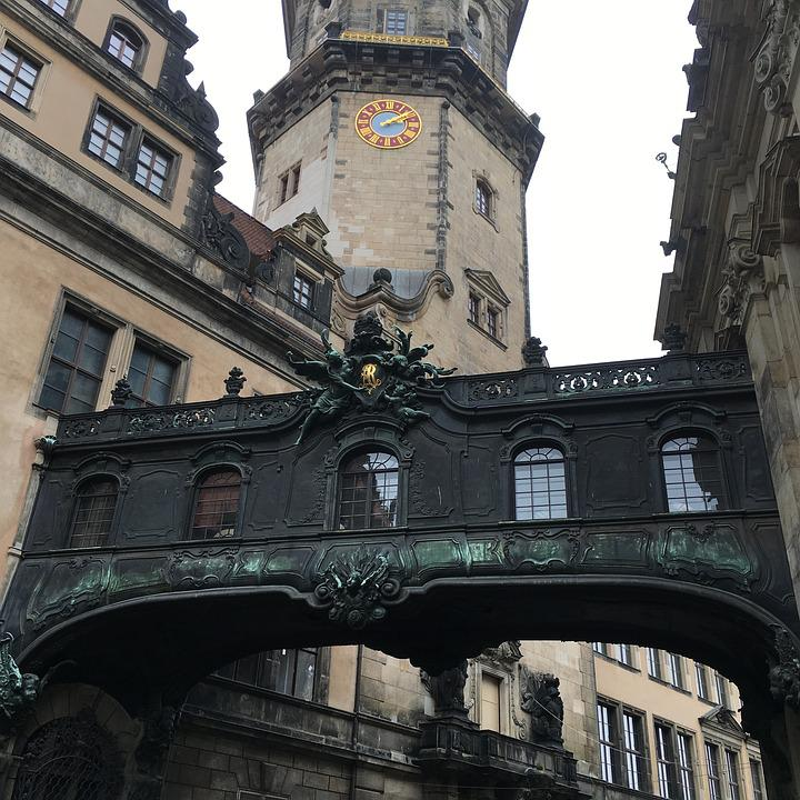 Bridge, Dresden, Architecture, Building, Old Town