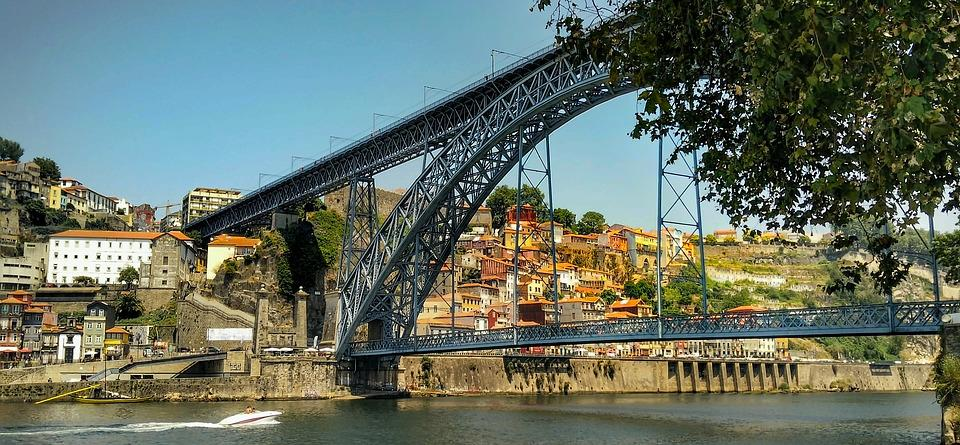 Bridge, Porto, Portugal, Architecture, River, City