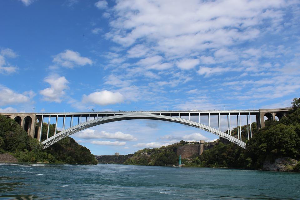 Bridge, River, Niagara River, Architecture, Landmark
