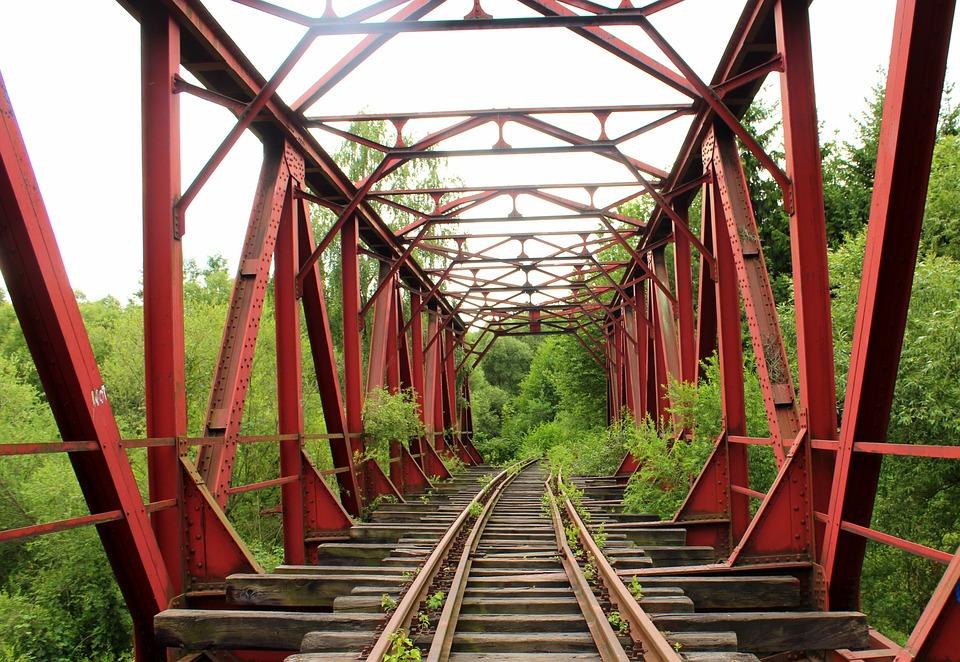 Bridge, Railway, Iron Bridge, Transport, Architecture
