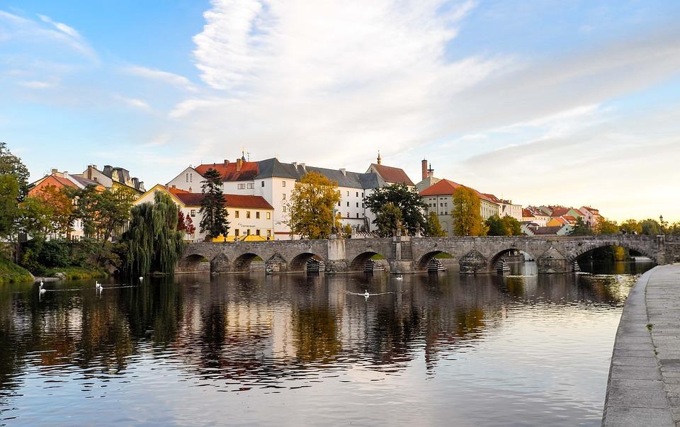 Pisek, Czech Republic, Bridge, Atmospheric, River