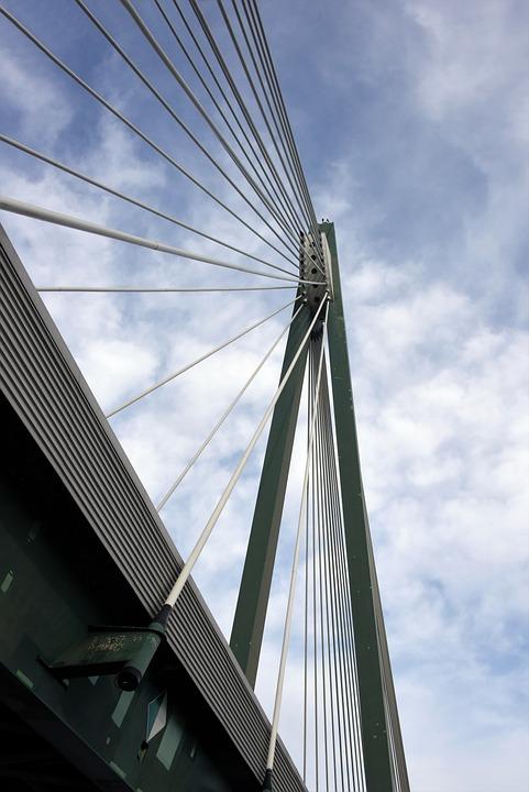 Bridge, Danube, Austria, Architecture, Heritage, Cables