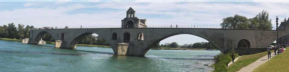 Bridge, Avignon, Pont St Benezet, Panorama, Landmark