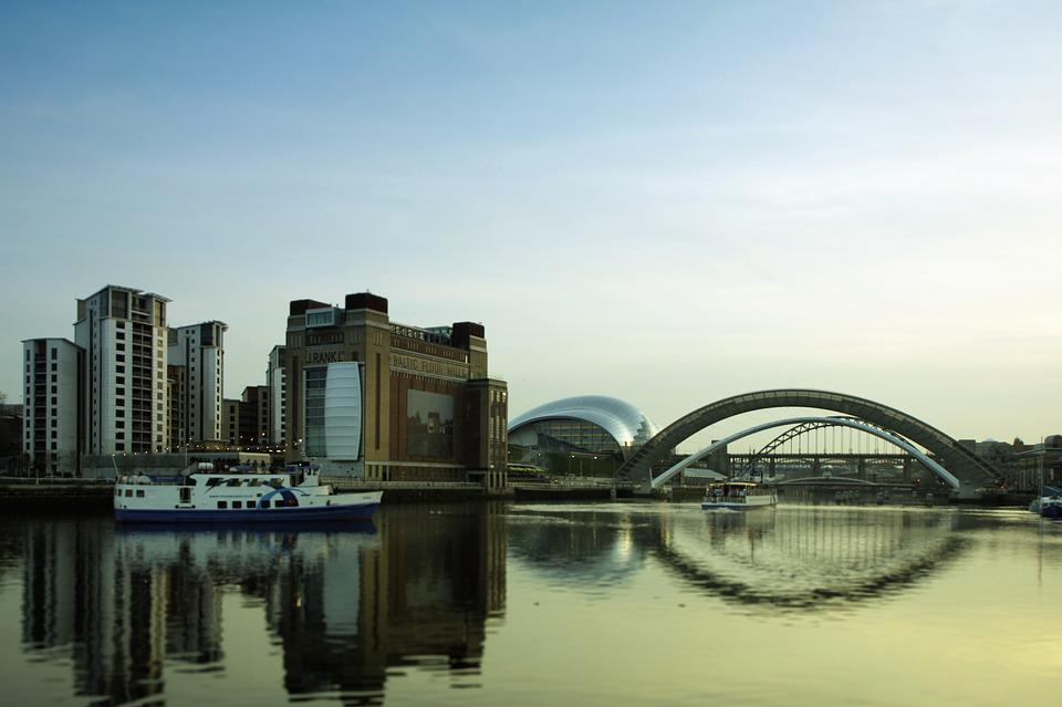 Newcastle, River, Tyne, Baltic, Bridge, Gateshead