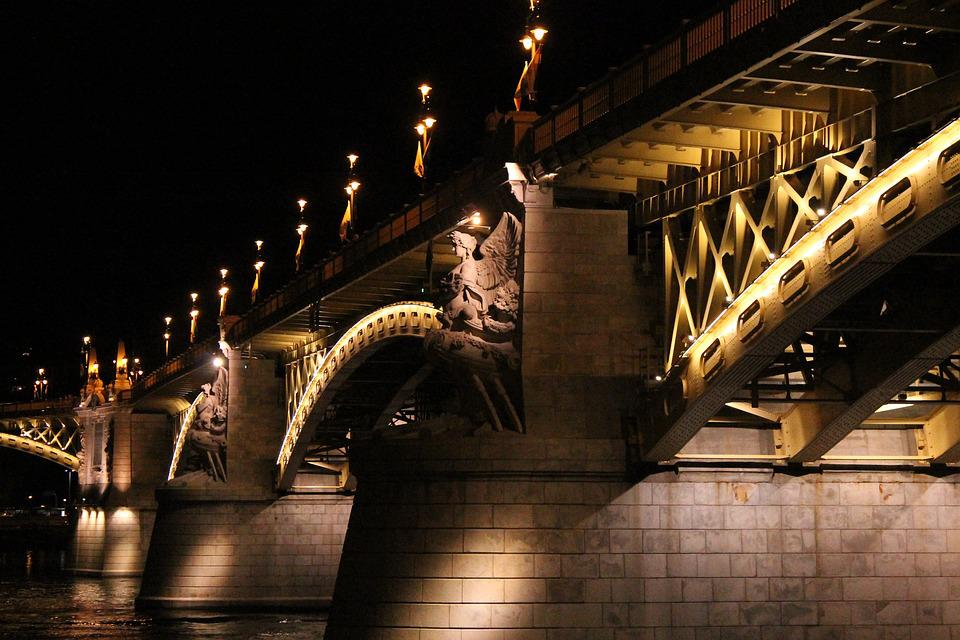 Bridge, Budapest, Margaret, At Night, Animal Lungs