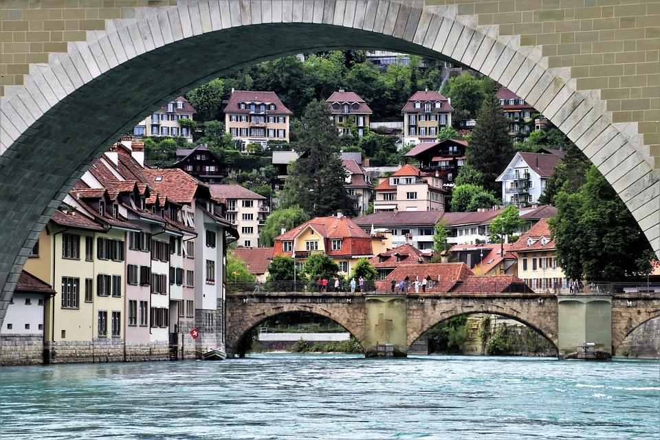 Bridge, River, Water, Buildings, Historical, Travel