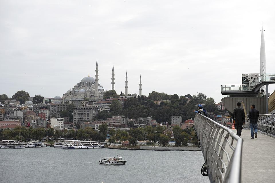 Cami, Bridge, Istanbul, Islam, Turkey, Landscape