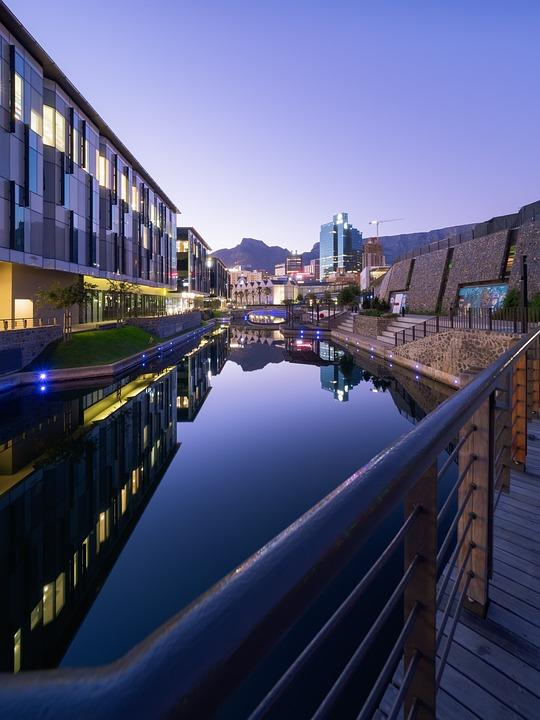 Architecture, Blue, Bridge, Building, Buildings, Canal