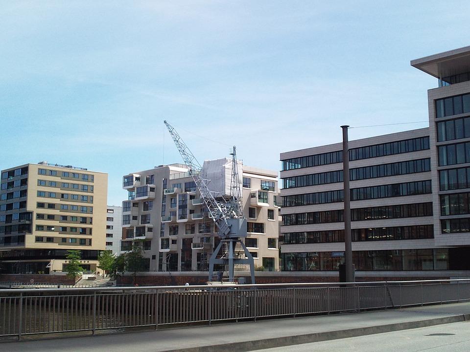 Hamburg, Harbour City, Building, Channel, Crane, Bridge