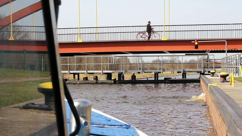 Waters, Bridge, River, Channel, Sluice Channel
