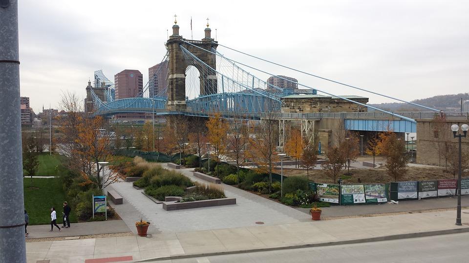 Cincinnati, Bridge, River
