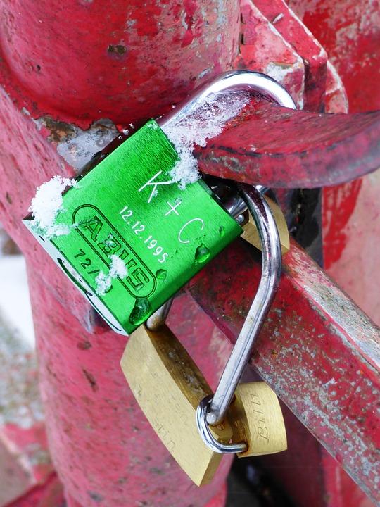 Padlocks, Sweethearts, Bridge, Safety, Close