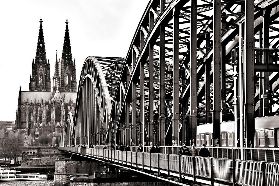 Bridge, Cologne, Hohenzollern Bridge, Dom, River, Rhine