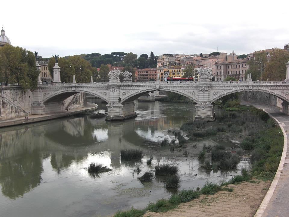 Rome, Italy, Tiber, River, Fiume Tevere, Bridge