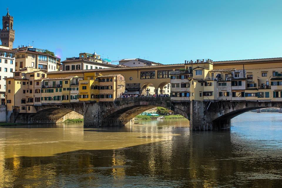 Italy, Florence, Bridge, Landscape, River