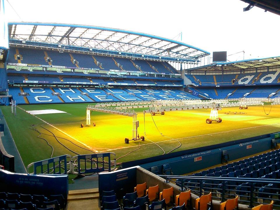 London, Chelsea, Bridge, Stamford, Lights, Football