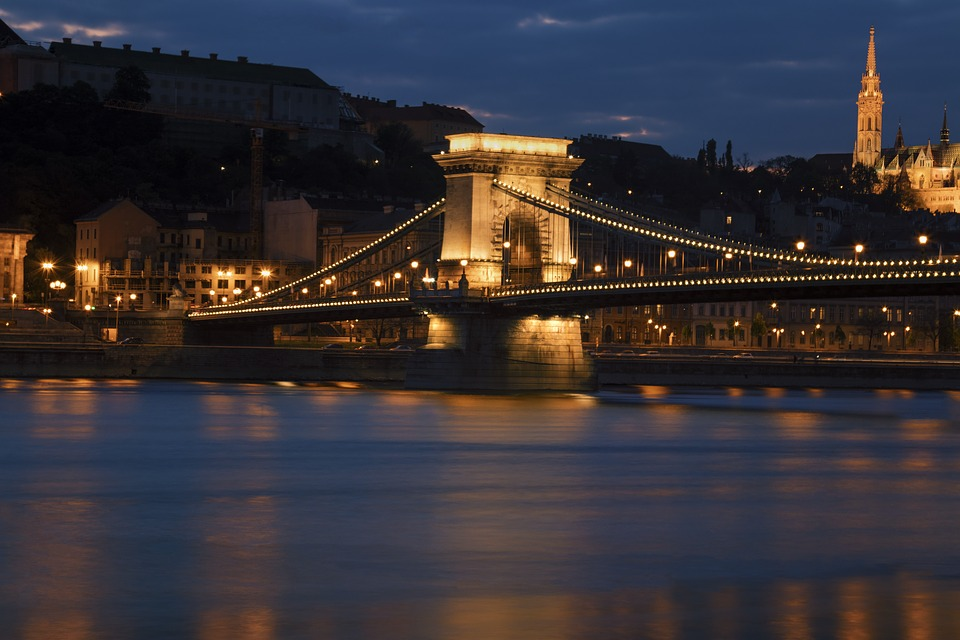 Bridge, Budapest, Hungary, Chain Bridge, Capital