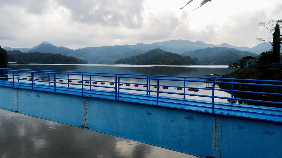 Bridge, Lake, Yogyakarta, Indonesia